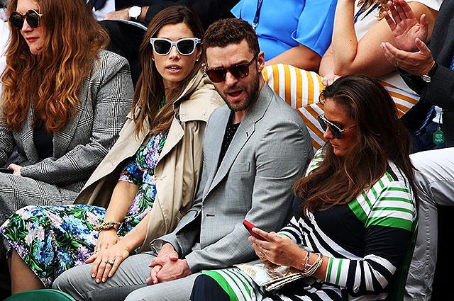 Джессика Бил и Джастин Тимберлейк посетили теннисный турнир