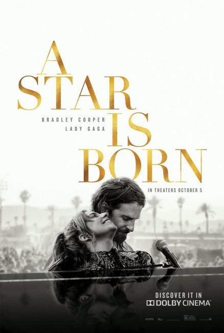 Леди Гага и Брэдли Купер на постере «Звезда родилась»